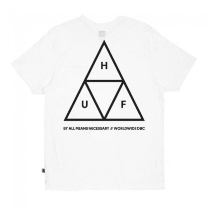 HUF Essential Triple Triangle T-Shirt - White