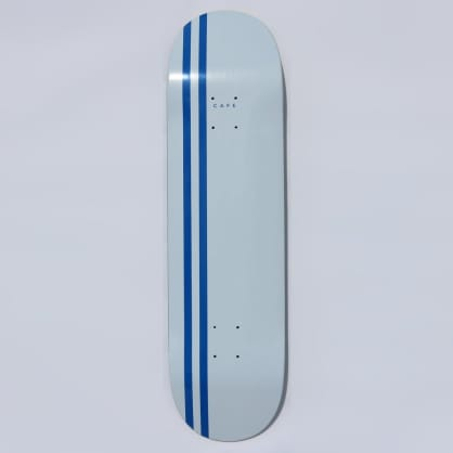 Skateboard Cafe Stripe Skateboard Deck White / Royal - 8.38""