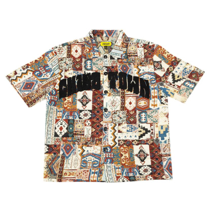 "CHINATOWN MARKET-""PATCH WORK SHORT SLEEVE BUTTON DOWN"""