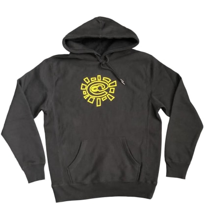 always do what you should do yellow puff @sun hoodie - Black