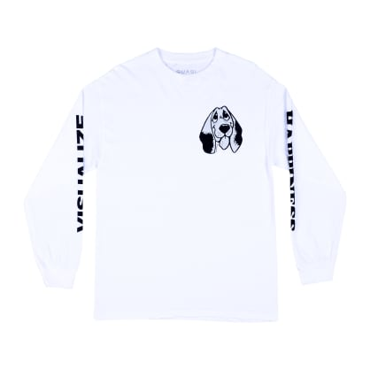 Quasi Happiness Long Sleeve Tee White
