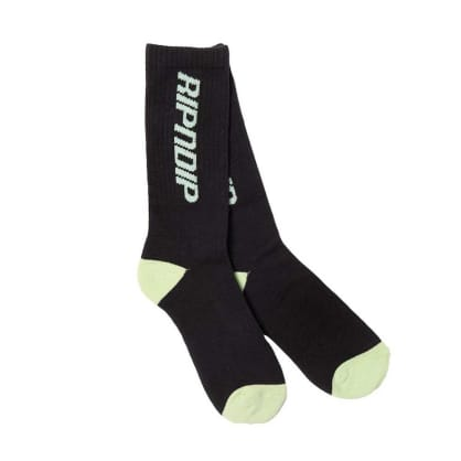 Rip N Dip Nerm Fast Socks - Black - Green
