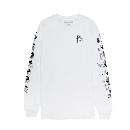 Fucking Awesome - Fucking Awesome Block Letters L/S T-Shirt | White