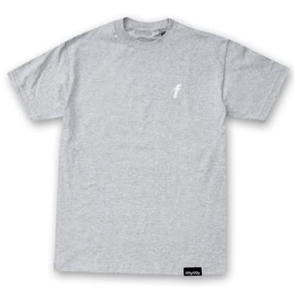 Fifty Fifty Embroidered TM-F T-Shirt Heather Grey
