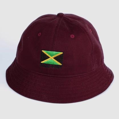 "PASS~PORT ""JAMAICA"" BUCKET CAP MRN"