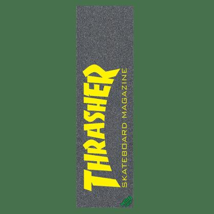 "Mob Thrasher Magazine Black / Yellow Skateboard Griptape - 9"""