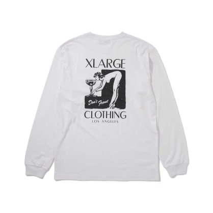 "X-LARGE - ""LONG SLEEVE GIRL LOGO T- SHIRT"" (WHITE)"