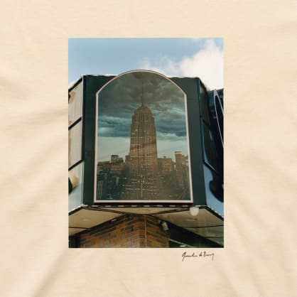 Quentin De Briey photo T-shirts _ Empire State Building_Cream