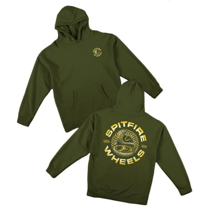 SPITFIRE DEEP CUTS HOODIE - ARMY YELLOW