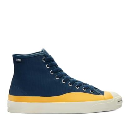 Converse CONS x Pop Trading Company JP Pro High Top Shoes - Navy / Citrus / Egret