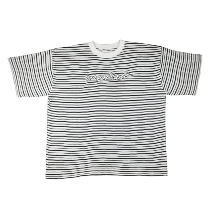 "Yardsale ""Mobb Knitted Script"" T-shirt (White/Black)"