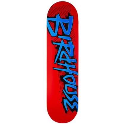Birdhouse Splatter Logo Red Skateboard Deck - 8.25
