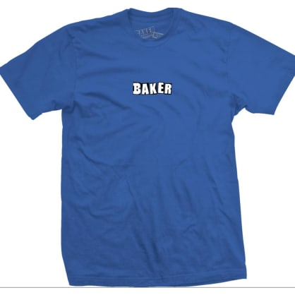 Baker Brand Logo Royal Blue Tee