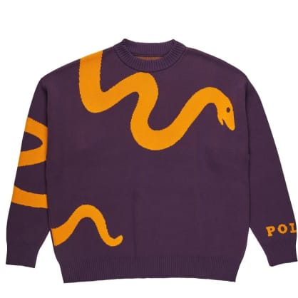 Polar Skate Co Snake Knit Sweater - Prune/Orange