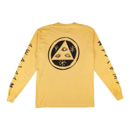 Welcome Skateboards - Tali-Scrawl Garment-Dyed Long Sleeve (Mustard/Black)