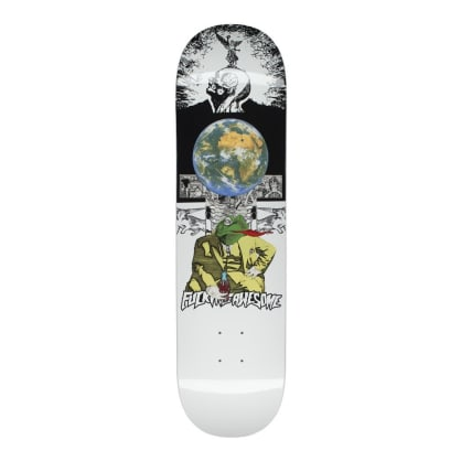 Fucking Awesome Frogman White Skateboard Deck - 8.18""