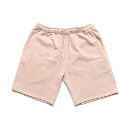 Chrystie NYC Garment Dye Classic Logo French Terry Sweat Shorts - Pale Pink
