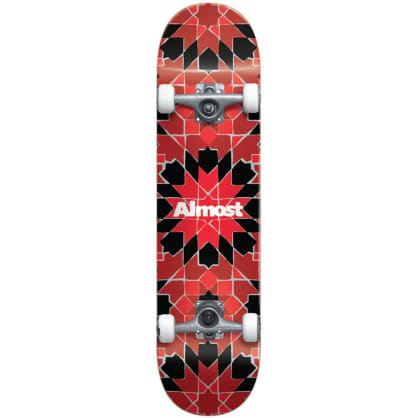 Almost Tile Pattern FP Complete Skateboard - 7.75""