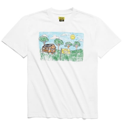 "CHINATOWN MARKET-""SMILEY KID DRAWING T-SHIRT""(WHITE)"