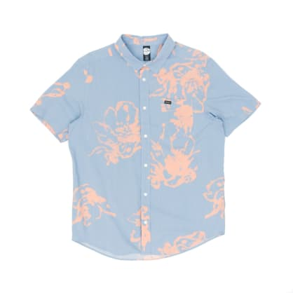 RVCA Vaughn Linear Shirt - Dusty Blue