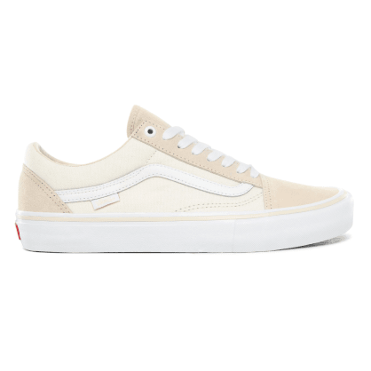 Vans Old Skool Pro Skate Shoes - Marshmallow / White