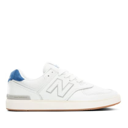New Balance Numeric All Coast 574 Skate Shoe - White / Cobalt Blue