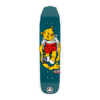 Welcome Skateboards Nora Vasconcellos Teddy on Wicked Queen Skateboard Deck White Dip - 8.6""