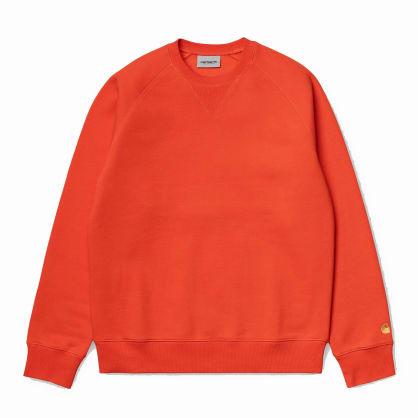 Carhartt WIP Chase Sweatshirt - Safety Orange / Gold