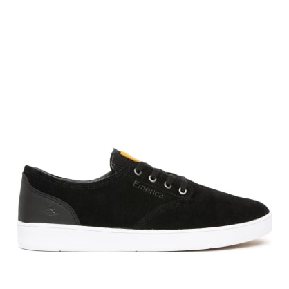 Emerica Romero Laced Skate Shoes - Black / Black / White