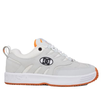 DC Shoes Lukoda Skate Shoe - White / Grey / Orange