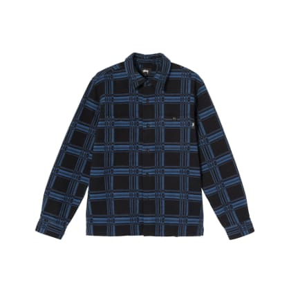 Stüssy - Langley Plaid L/S Shirt - Navy