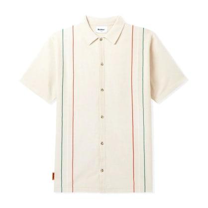 Butter Goods Stripe Knit Shirt (Bone)