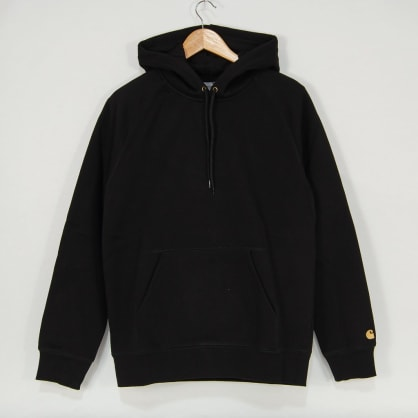Carhartt WIP - Chase Pullover Hooded Sweatshirt - Black / Gold