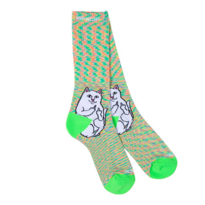 RIPNDIP Lord Nermal Socks - Neon Green Speckle
