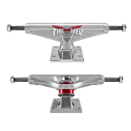 Venture x Thrasher Collab Trucks polished silver