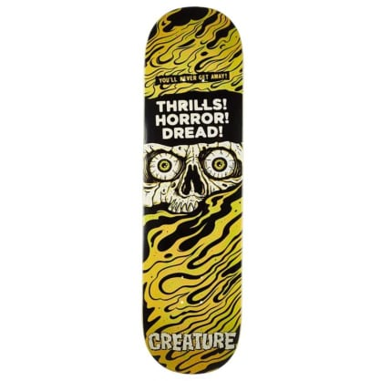 Creature Horror Feature Large Large Skateboard Deck Black/Yellow - 8.5