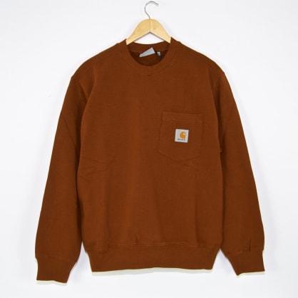 Carhartt WIP Pocket Crewneck Sweatshirt - Brandy