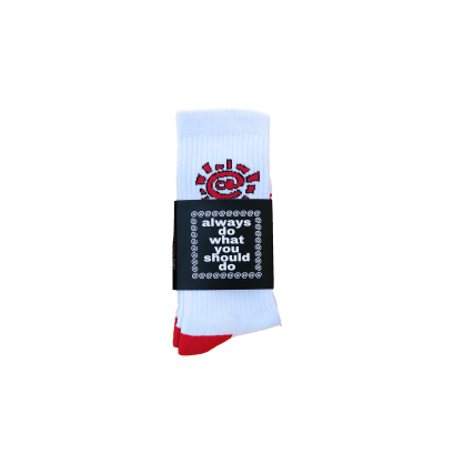 always do what you should do - white / red @sun sock