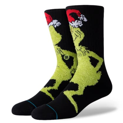 Stance Socks - Stance Mr Grinch Socks | Black