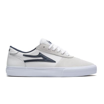 Lakai Manchester Suede Skate Shoes - White / Navy