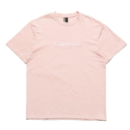 Chrystie OG Logo Embroidered T-Shirt - Apricot