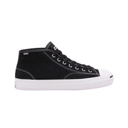 Converse Cons Jack Purcell Pro Mid Skateboarding Shoe - Black / White / Black