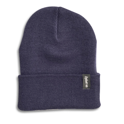 No-Comply Script Beanie Navy
