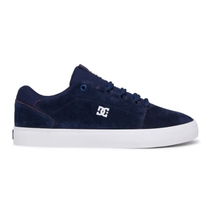 DC Hyde S Leather Skate Shoes - Dark Navy