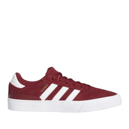 adidas Skateboarding Busenitz Vulc II Shoes - Collegiate Burgundy / Cloud White / Gold Metallic