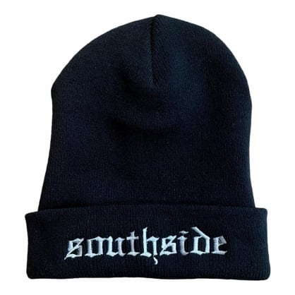 Southside Old English Beanie Black