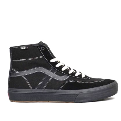 Vans Crockett High Pro Skate Shoes - Black / Black