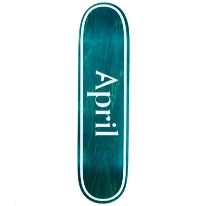 "April Skateboards - April Skateboards OG Logo Invert Mint Deck 8.25"" Wide"