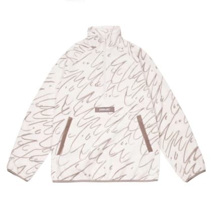 Dime Faces Quarter Zip Fleece - Cream