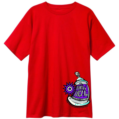 New Deal Skateboards Spray Can T-Shirt - Red
